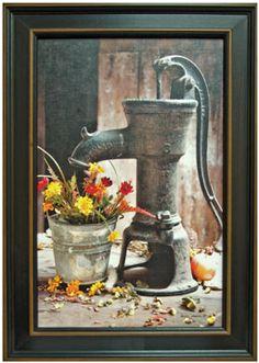 antique Water Pump Framed Print