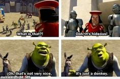 Man, I love shrek Dreamworks Movies, Pixar Movies, Funny Movies, Disney And Dreamworks, Good Movies, Cartoon Movies, Shrek Funny, Shrek Memes, Hilarious