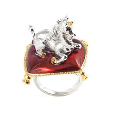 Unicorn Ring by Bill Skinner.  A complete unicorn horn was thought to be owned by Queen Elizabeth I and many designers of the time turned to mythology for decorative inspiration.