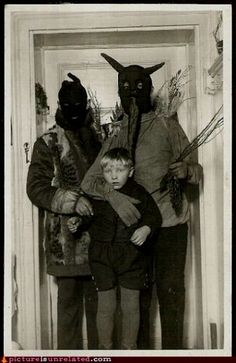 "Very odd old picture.  Bogeyman, or alternate ending to ""Home Alone?"""
