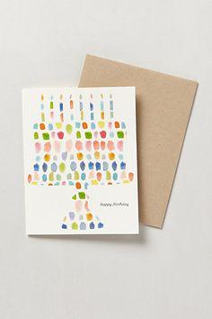 Paint Palette Birthday Card #anthropologie