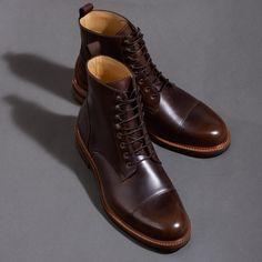 Dowler Boots - Pull Up – Beckett Simonon Mens Boots Fashion, Mens Fashion Suits, Men Boots, Leather Boots, Mens Blue Dress Shoes, Workwear Boots, Men's Footwear, Men Shirts, Cool Boots