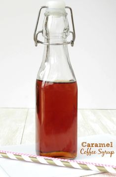 This caramel coffee syrup will change the way you drink coffee forever!