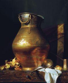 "Sherrie McGraw OPAM, ""St. Bernard Copper,"" oil, 26 x 22 in Fine Art Connoisseur - Meet The Best In Oils"
