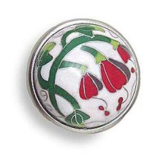 CLOISONNE Red BLEEDING HEART flower pewter CABINET pulls drawer knobs by Liberty Hardware, http://www.amazon.com/dp/B004Z1V11M/ref=cm_sw_r_pi_dp_3da3rb0AQHHAT