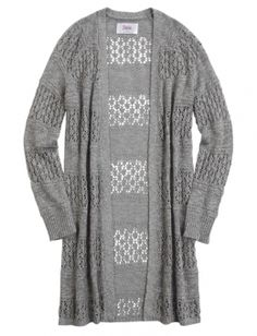 Shop Printed Waterfall Cardigan and other trendy girls tops ...