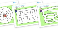 Three Little Pigs Differentiated Maze Activity Sheets - australia