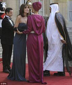 Sheikha Mozah & Carla Bruni