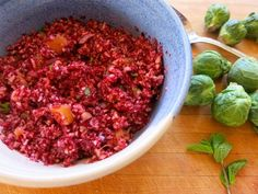 A fresh new way to make cranberry sauce. (Think Relish.) #thanksgiving