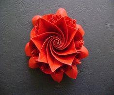 Origami Maniacs: Origami Aquilegia Flower