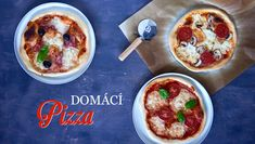 Domácí pizza - Kuchařka pro dceru Pizza, Cheeseburger Chowder, Tacos, Soup, Pudding, Cooking, Ethnic Recipes, Desserts, Daughter