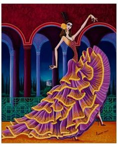 Obra de arte: Granada nocturno Artistas y arte. Artistas de la tierra
