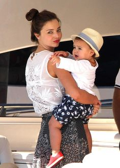 *EXCLUSIVE* Orlando Bloom and family board yacht 'Andiamo' at Hamilton Island [USA ONLY]
