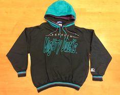 Vintage 90s Mighty Ducks Starter Sweatshirt hoodie kariya selanne hebert  rucchin mcinnis giguere snapback script jersey anaheim stanley cup by ... d14574a5b