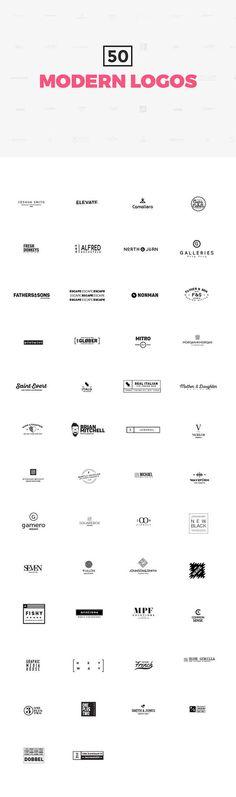 50 Modern Logo Templates: