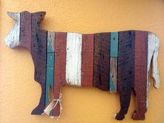 Reclaimed Barn Wood & Fence Slat Wall animals by theGypsybird