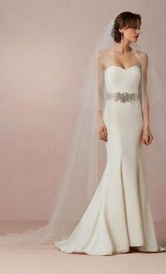 Wedding Dress Accessories - Veil Ivory Cathedral BHLDN FLOATING CATHEDRAL VEIL Item # 30588651 $175 USD - New With Tags/ Unaltered