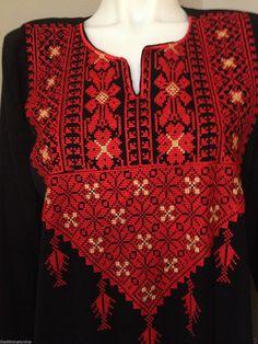 Traditional Palestinian Costume Embroidery Ethnic PALESTINE GAZA Dress Thoub | eBay
