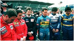 Respect for their two comrades who lost their live at Imola. Ayrton Senna and Roland Ratzenberg