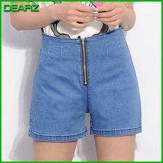 Summer Hot Saling Women's Fashion College Wind Sweet High Waist Denim Shorts Metal Zipper Elastic Thin Jeans Short Pants 1546b - http://www.aliexpress.com/item/Summer-Hot-Saling-Women-s-Fashion-College-Wind-Sweet-High-Waist-Denim-Shorts-Metal-Zipper-Elastic-Thin-Jeans-Short-Pants-1546b/32359049862.html