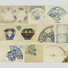 Rud-Schenker-13-Original-Projets-de-cannelle-chinois-porcelaine-de-1880