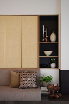 Built by Raw Edge Furniture - Custom Built, Cabinetry, Plywood, Formply, Shelving, TV Unit, Study, Desk, Hallway Unit, Built-In Storage