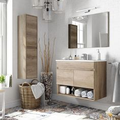 Pink Bathroom: Designs & Decoration Photos - Home Fashion Trend Bathroom Furniture, Bathroom Interior, Office Furniture, White Bathroom, Modern Bathroom, Single Vanity Units, Small Toilet, Wall Mounted Vanity, Small Bathroom Storage