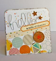 Nicole Nowosad: Jillibean - March - Hello note of thanks card