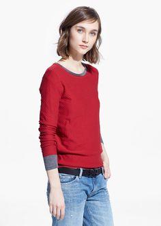 Polka-dot cotton-blend sweater