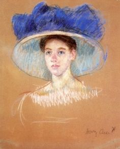 Woman's Head with Large Hat - Mary Cassatt - The Athenaeum