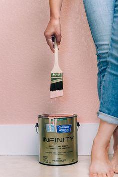 DIY Paint Project    Pink Accent Wall    Jen Pinkston's Austin Studio