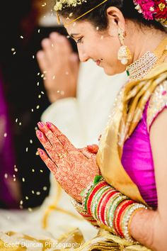 This Indian wedding ceremony is a traditional event.