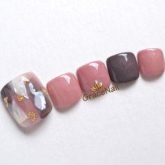 Cute Toe Nails, Toe Nail Art, My Nails, Pretty Toes, Pretty Nails, Feet Nail Design, Fingernails Painted, Bright Red Nails, Korean Nails
