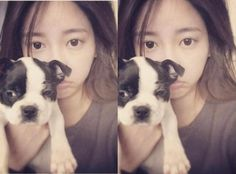 T-ara World: A good morning with T-ara's SoYeon and her dog