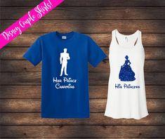 811fa59d62 His Princess Her Prince Charming | Cinderella Shirts | Disney Couple Shirts  | Disney Shirts | Matching Disney Shirts | His & Her Shirts