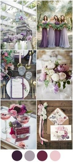 Polished Purple & Mixed Berry Wedding Colour Palette - This fresh palette of rich hues is perfect for an autumn wedding. Purple has always been a popular colour for Irish weddings because of its regal, timeless feel but this is the year to mix up your sha Wedding 2017, Wedding Themes, Wedding Planner, Our Wedding, Dream Wedding, Wedding Decorations, Decor Wedding, Trendy Wedding, Colour Themes For Weddings