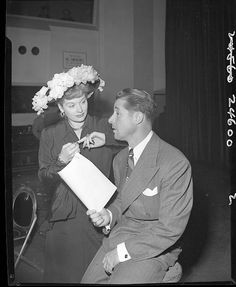 Lucille Ball and Don Ameche