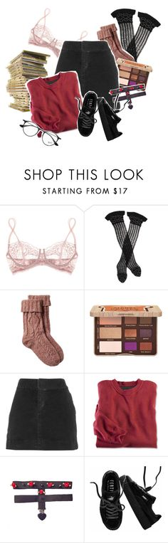 """""""who am i anymore?"""" by tbh-shxt ❤ liked on Polyvore featuring La Perla, Trasparenze, Fat Face, Too Faced Cosmetics, Nili Lotan, Puma and Ray-Ban"""