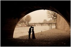 Wedding on the banks of the River Seine Paris  | Photography © Juliane Berry via French Wedding Style