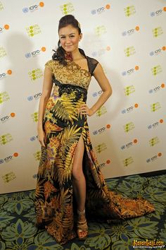 Batik dress AGNES IN GLOBAL YOUTH FORUM :)