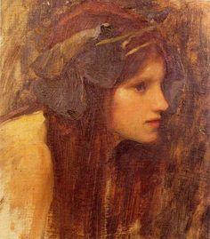 'A Naiad' (Study) John William Waterhouse, 1893 | by Öpheliä