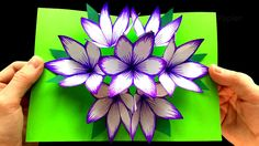 Basteln mit Papier: DIY Blumen Pop-Up Karten - 3D - DIY Geschenke selber...