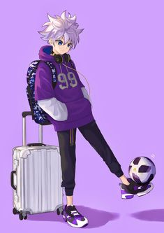 Anime: Hunter x Hunter Hisoka, Killua, Zoldyck, Me Anime, Cute Anime Guys, Otaku Anime, Anime Chibi, Anime Art, Manga Art
