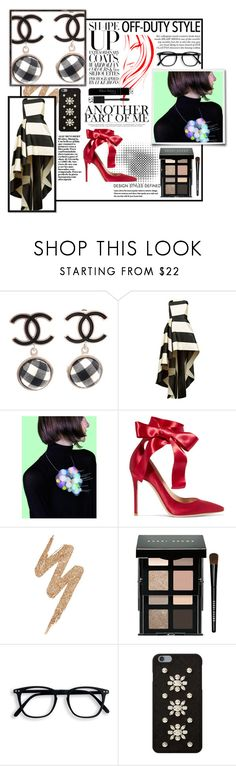 """""""Untitled #399"""" by misslulu1976 ❤ liked on Polyvore featuring Chanel, La Mania, jibuu, Gianvito Rossi, Urban Decay, Bobbi Brown Cosmetics, MICHAEL Michael Kors and Christian Dior"""