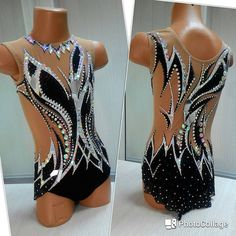 RG leotard by Rhythmic Gymnastics Costumes, Acrobatic Gymnastics, Ballet Costumes, Dance Costumes, Showmanship Jacket, Gym Leotards, Gymnastics Competition, Black Leotard, Figure Skating Dresses