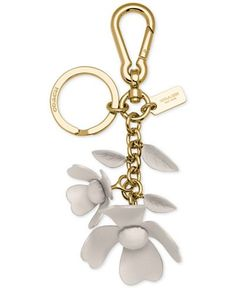 COACH Leather Tea Rose Bag Charm - All Accessories - Handbags & Accessories - Macy's