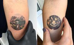 Kleine, runde Traumwelten: Eva und ihre Miniature Tattoos