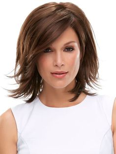 Rosie by Jon Renau is a monofilament base design with a lace front for off the face styling. Set in a classic textured bob for an everyday wear wig.
