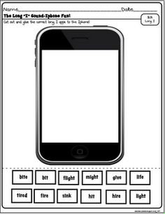 Iphone printable for Long I sounds