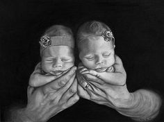 """Melody Vice-artist In Daddy's Hands Charcoal and Graphite on Paper 18""""x24"""" 2014"""